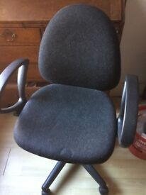 Grey computer chair