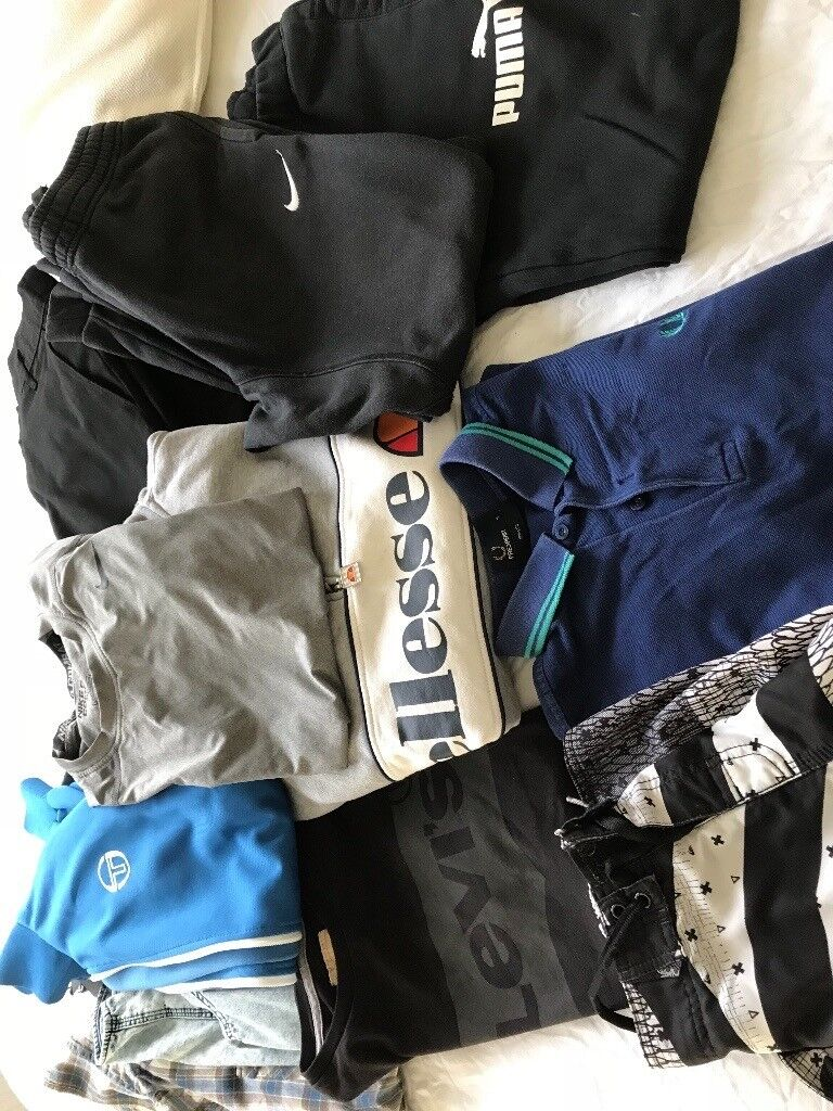 Boys age 12-15yrs bundle of clothes inc Black School trousers x 6 pairs (13-15yrs)