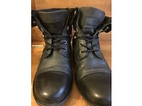 River Island Military Black Boots Men's Size 8 £20