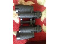Carl Zeiss Jena Multi-coated Jenoptem 8 * 30 Binoculars with leather case.