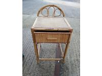Side table. Coffee bedside cane ratan