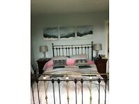 King size bed frame antique style bed frame in excellent condition