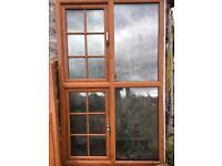 PVC windows oakgrain