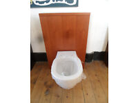 ideal standard back to the wall toilet pan wth cherry cistern unit