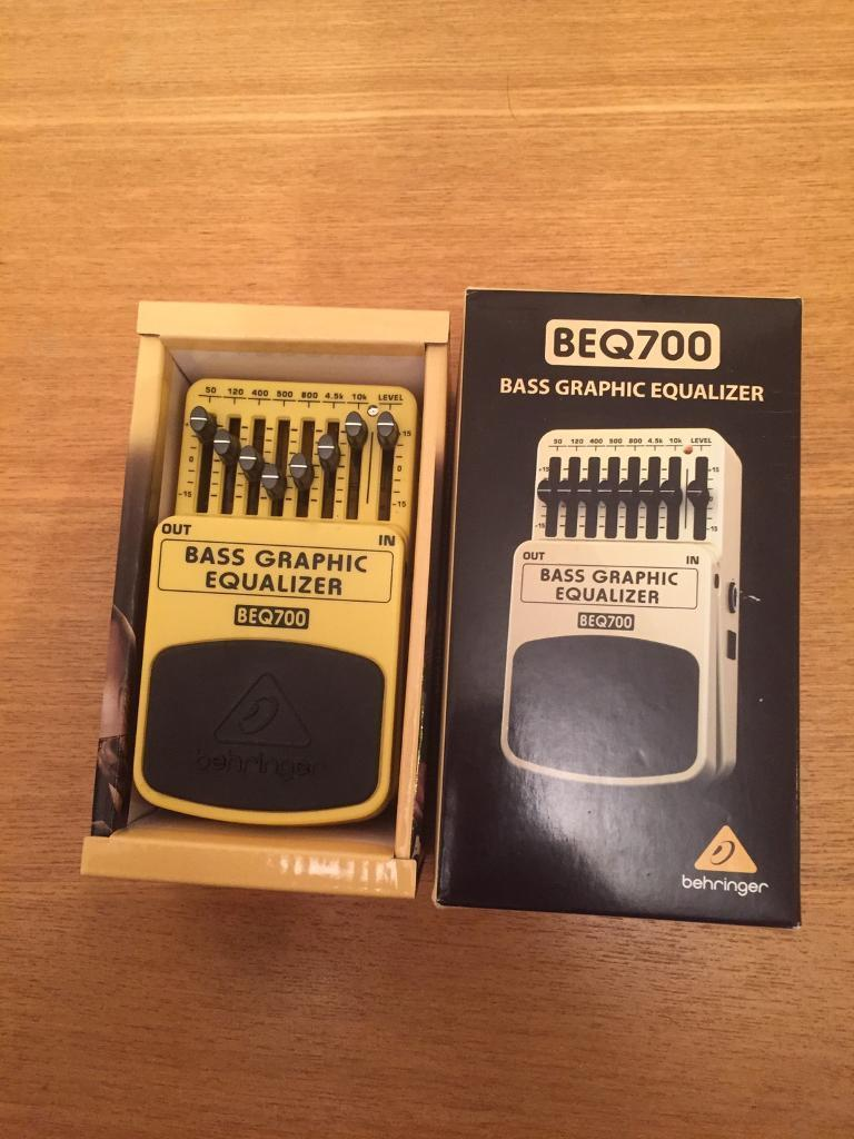 Bass Guitar graphic equaliser pedal
