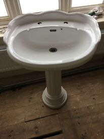 Antique style sink and pedestal