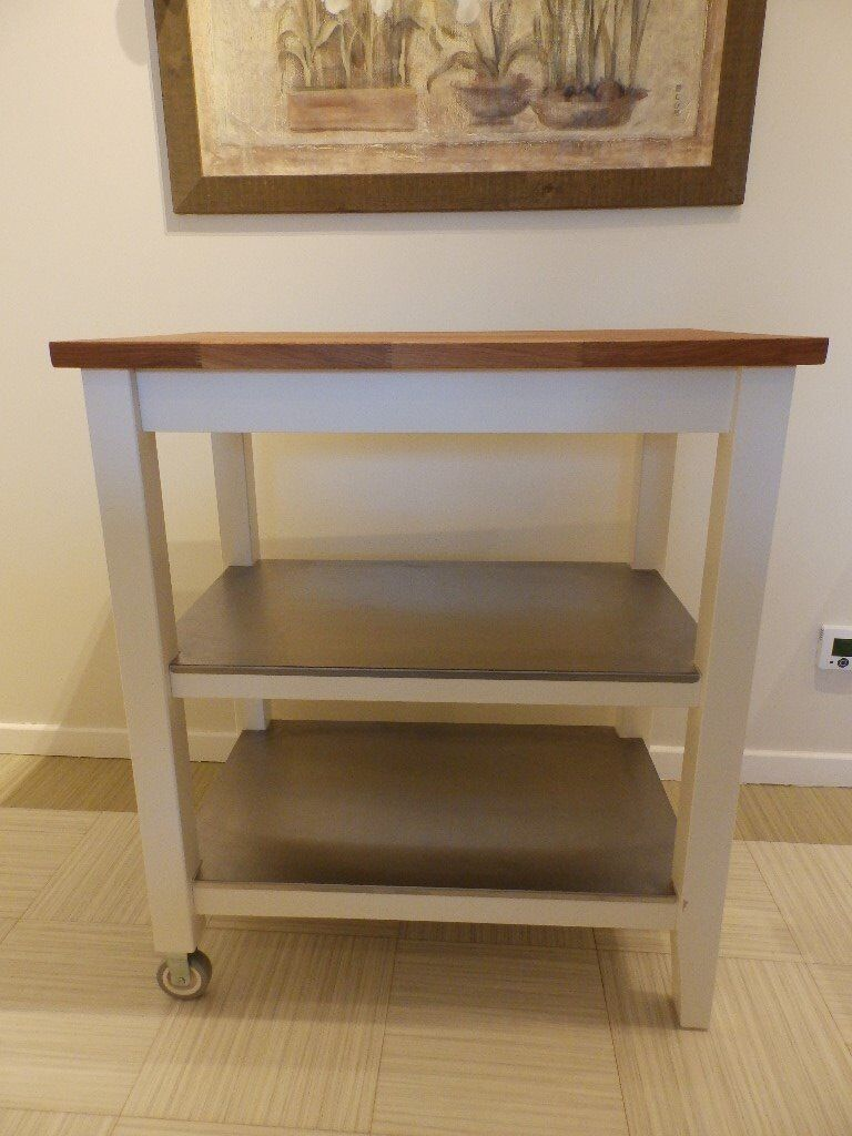 Mobile Kitchen Trolley Island Extra Worktop And Storage Unit