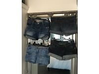 Four pairs of denim shorts size8 all NEWLOOK