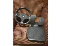 Thrustmaster T80 Steering wheel and Pedal set for PS4 with Project Cars