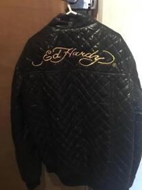 Ed Hardy puffa Jacket Xl Adults