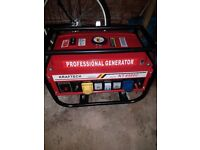 Kraftech KT-6500C Petrol Generator 6.5HP Brand new and never used.