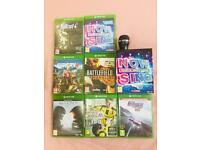 7 xbox one games + mic for sale for £56