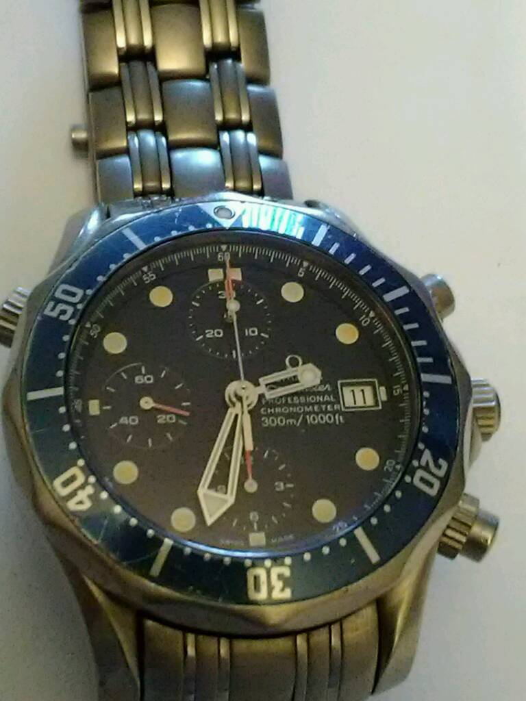 **NEW REDUCED PRICE!! **RARE TITANIUM OMEGA SEAMASTER AUTOMATIC CHRONOGRAPH £1375