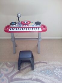 Çhilds keyboard with instruments, sounds, mixer and microphone