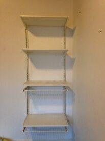 """Ikea """"algot"""" wall mountable shelves and baskets"""