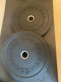 NEW 10kg Olympic bumper plates