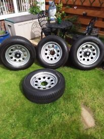 Winter Tyres with Steel Wheels 15 inch
