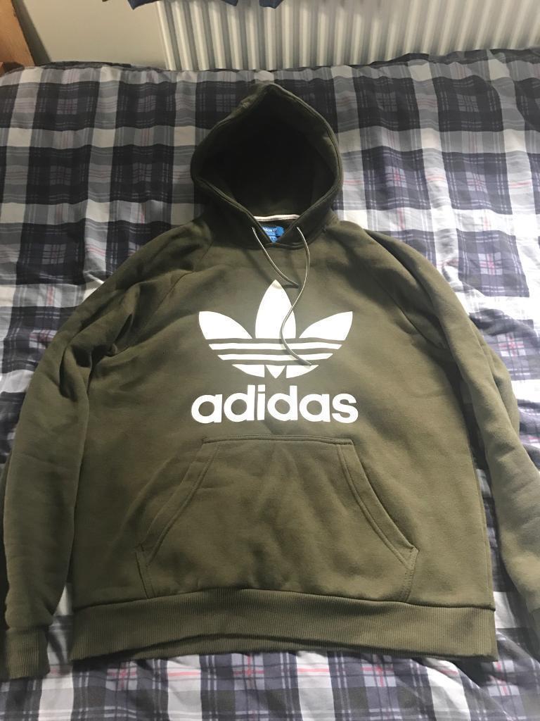 Adidas khaki tracksuit