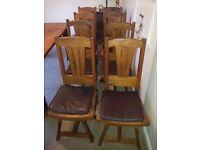Heavy Wooden Dining Room Chairs