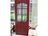 Three Mahogany solid wood doors