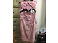 Hell Bunny Dress 1950's style pencil dress