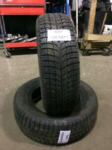2 PNEUS D HIVER USAGES 195/65R15  1965R15   2 WINTER TIRES  195/65R15 MICHELIN X-ICE