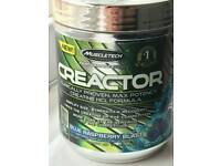 Muscletech Creactor creatine Blue raspberry flavour unopened