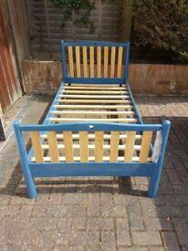 Wooden framed single bed - no mattress
