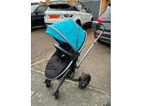 Silvercross surf 2 - teal and black, travel system