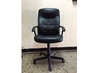 Lovely black leather office chair. excellent condition.