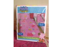 Peppa Pig BRAND NEW douvet cover / bed set