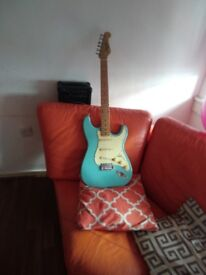 Liberty electric guitar and amp