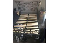Double size Black Metal Bed Frame
