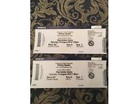 2 x Britney Spears Manchester 18th August tickets