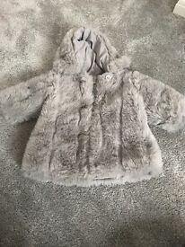 Mammas & papas faux fur coat