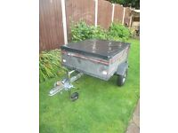 Erde tipper trailer with fitted electrics and jockey wheel 4x3