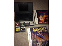 Nintendo black ds lite and games