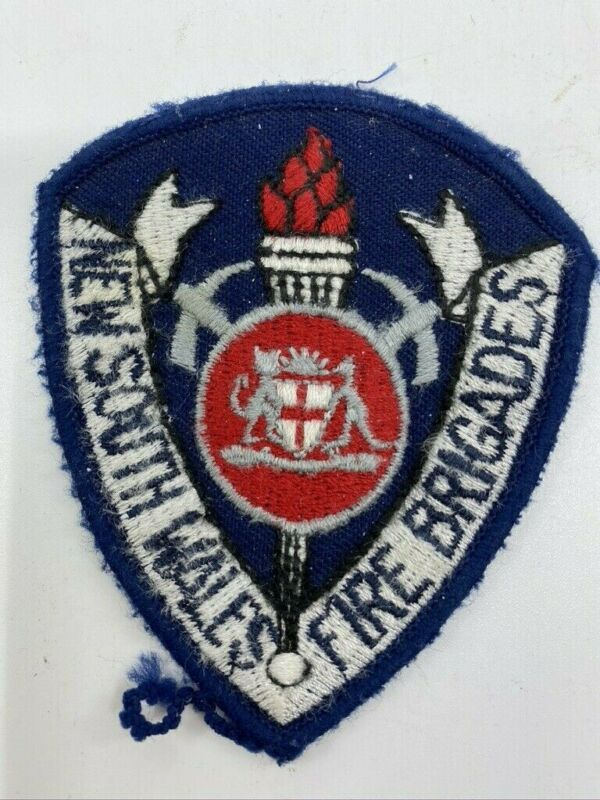 New South Wales Australia Fire Brigade Fire Department Patch Obsolete
