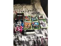 2 xbox 360 controllers and games bundle