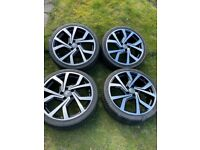 Genuine vw golf Brescia 19 inch alloys with tyres