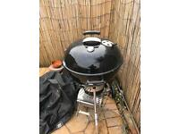Weber master touch charcoal BBQ