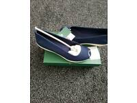 brand new lacoste wedges