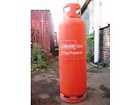Calor Gas Bottle 47kg Large Propane Orange / Red Cylinder Empty