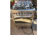 Baumatic stainless steel standing gas cooker and electric oven 60cm