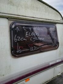 Elddis cyclone Caravan side window