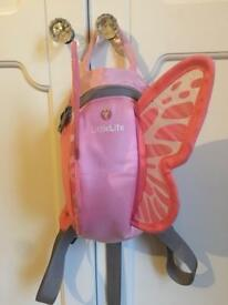 LittleLife butterfly backpack and reins