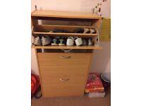 3 Drawer Shoe Cabinet (Oak Veneer)