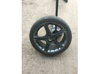 """18"""" gunmetal grey TRANSIT CONNECT alloys 4 brand new tyres hardly used £375"""