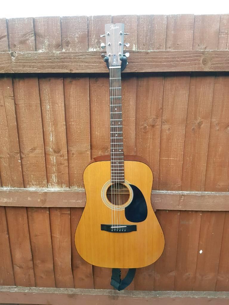 Fender f3 1981 acoustic guitar
