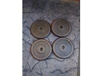 4x 5kg York Cast Iron Standard plates (20kg total)